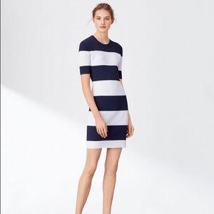 Tory Sport Striped Tech Knit Sweater Dress XL